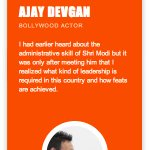 RT @creativegarg: Ajay Devgan : I had earlier heard about the administrative skill... #OnlyNaMo http://t.co/amiyEzkYJZ