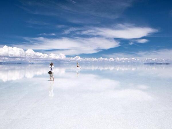Where Earth meets the sky, Bolivia http://t.co/eIjbXY4nt6