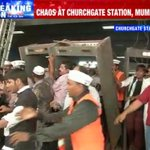 Chaos in Mumbai as AAP supporters reportedly damage metal detectors and violate rules at Churchgate station #AAPChaos http://t.co/VCe7zE2ctW