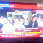 AAP shows its true colours with hooliganism, #AAPChaos in Mumbai! http://t.co/LBjivjNWXx