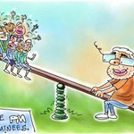 RT @NitiCentral: @narendramodi outweighs all #Cartoon by @MikaAziz http://t.co/ZTg6b6LSLe http://t.co/DoqwHSGj4q