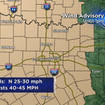 Wind Advsory for all of North Texas continues until 1pm. Strongest winds will occur up to sunrise. #txwx #cbs11wx http://t.co/zqIs6ljlzY