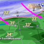 The rain/snow line is sliding south east. Parma, N. Royalton, Strongsville, Shaker you are next... #OHsnow http://t.co/xv2qiGXpAt