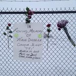 The fence at the Cougar Helicopter Bldg - 5th ann of the crash #nltraffic #590VOCM http://t.co/CL3s7Mt1XD