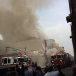 On my way to work and then BOOM! Building explosion collapse on 116th. NYC #explosion116 http://t.co/4ZIrnoyiET