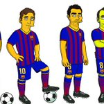 RT @FCBarcelona: FC Barcelona presents the first simpsonized players: Xavi, Iniesta, Messi and Neymar http://t.co/3Zo2lh0Hyf http://t.co/LzvhHOIJDc