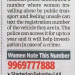 RT @MihirBijur: Dear Mumbai Women who travel alone, please save this and let other Women know. Mumbai Polices great initiative! http://t.co/0t1PGCDN7L