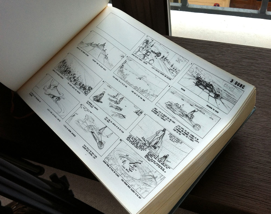 The storyboard book from Jodorowsky's Dune http://t.co/28HEf2BhHt