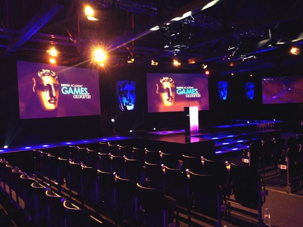 Here is a sneak peak of the new #BAFTAGames Awards stage. Looks awesome! http://t.co/xngIsXelu8