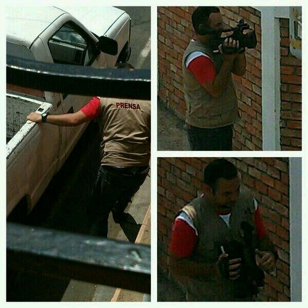 Comisario de la policía se disfraza de periodista para filmar a los opositores en las torres del Saladillo #maracaibo http://t.co/0RryvIQ7UO