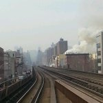 RT @obiokere: First responders are already @ the scene...picture taken from the metronorth 125 th station #nyc #explosion http://t.co/XxyuWwBYra