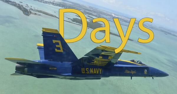 Three days until the @USNavy #BlueAngelsAreBack! http://t.co/VBWww0FeZe @BlueAngels