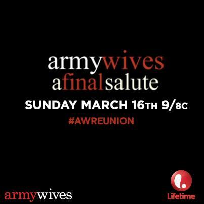 Love #ArmyWives? Tweet your fave moment using #AWReunion for your chance to see it on air during the Final Salute. http://t.co/mnrDncT7lr