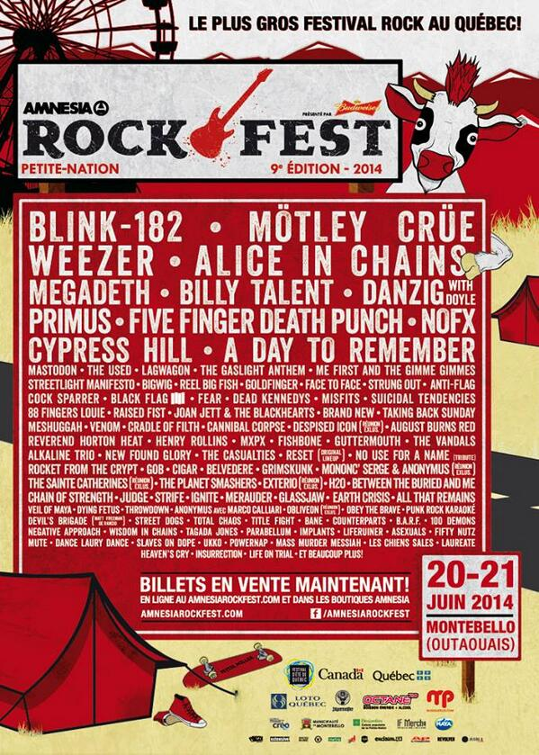 Here's the official poster for @outaouaisrock. Lose your shit. http://t.co/Hxvi9bDON6