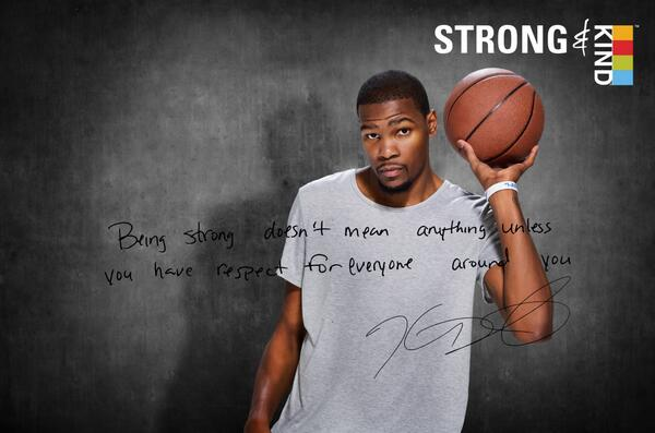 Let's reach 1 million #strongandkind pledges to support $1million to Kevin Durant's Foundation http://t.co/gBlzQddTOb http://t.co/4dxnyRspXa