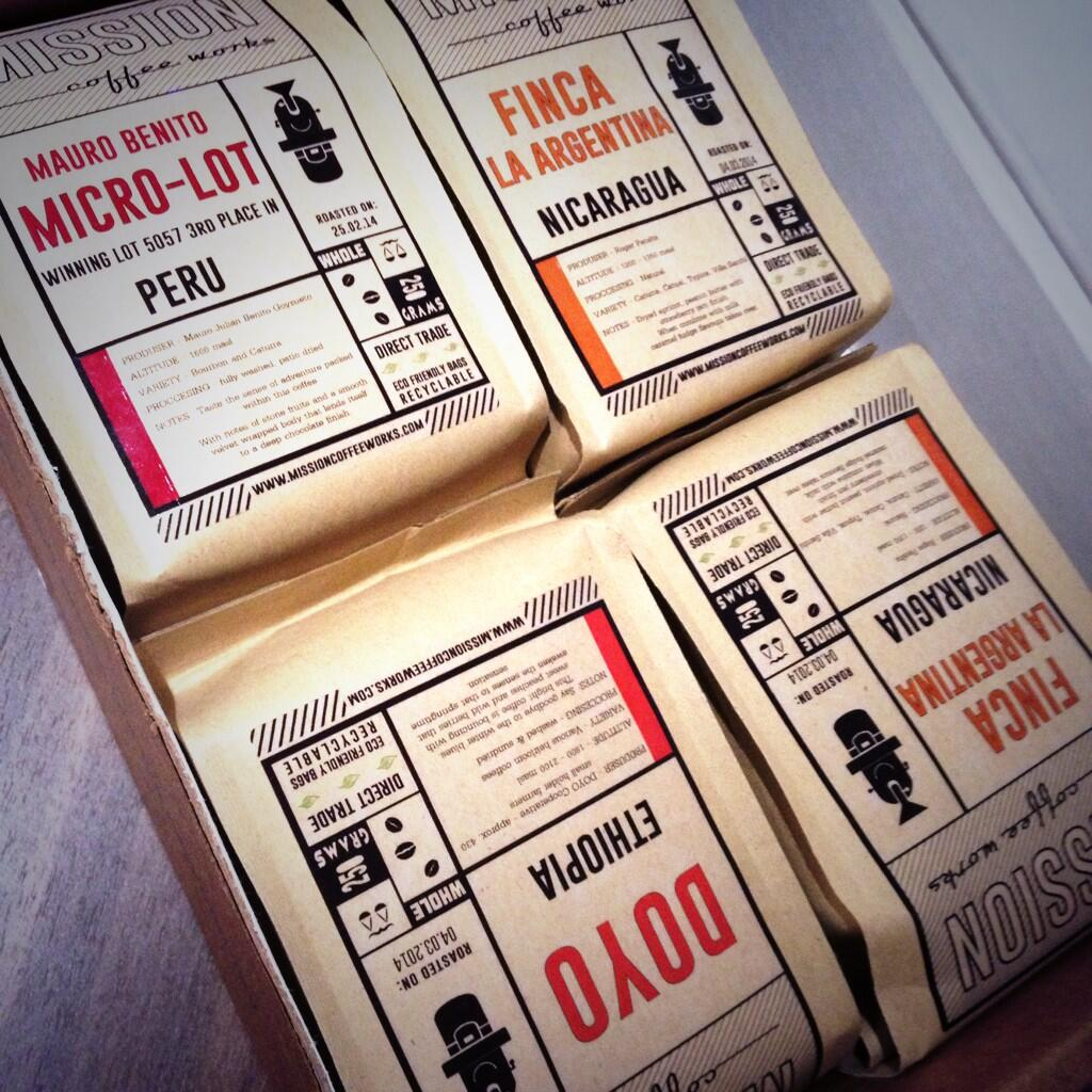 Well look what just turned up from @MissionCoffeeW cheers Gedas! http://t.co/JVH8RKhQ9a