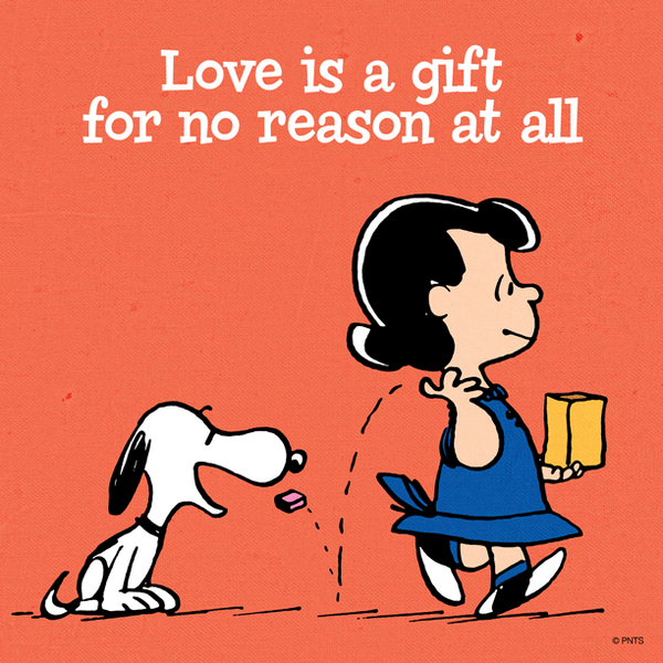 Love is a gift for no reason at all. http://t.co/EgF8hP9H3v
