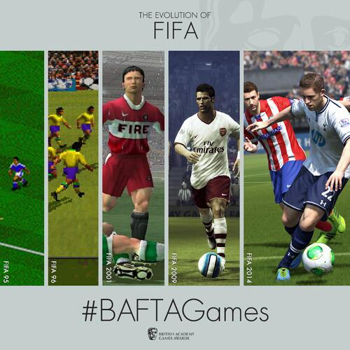 #BAFTAGames winner FIFA through the ages http://t.co/TjUih5Fv1Q http://t.co/RnpTWydVhO