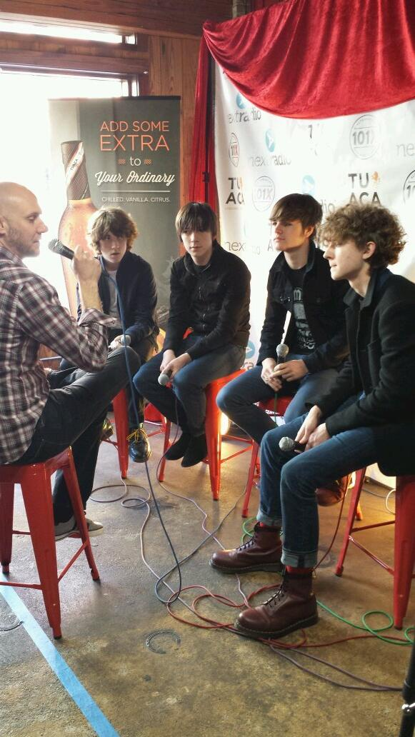Last interview with @The_Strypes, who are also our youngest band. #SXSW http://t.co/gJXk5wDUfy