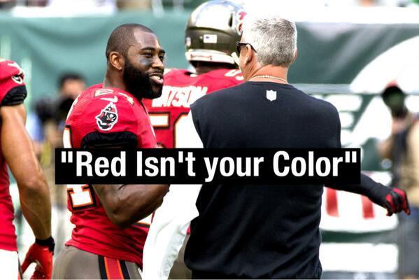 """Red isn't your color"" RT and let @Revis24 know you want him back with the #Jets!! http://t.co/LCMRCrYw45"