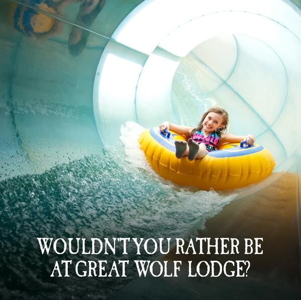 Retweet if you'd rather be at Great Wolf Lodge! #greatwolflodge http://t.co/NXnWuQkTjg