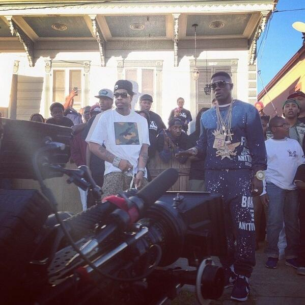 """@OfficialWebbie & @LilBoosie_ on set for the """"Show the World"""" video shoot http://t.co/bZtfSYd8ds"""