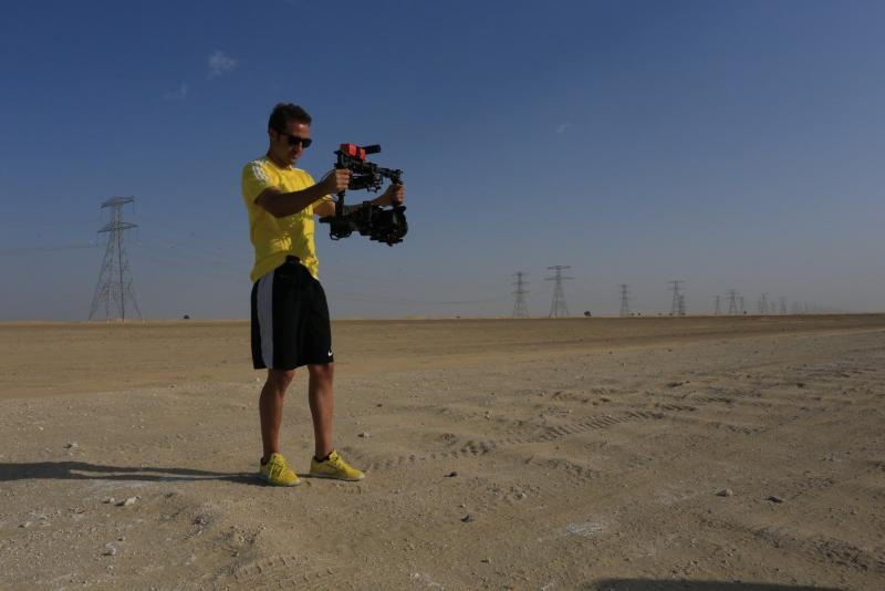 #thevictorious #dubaitv #dubaisports  #steadycam fun in the desert #footballrealityshow http://t.co/VYvvHaqzqG