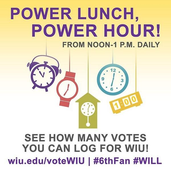 Power Hour! Don't stop now! Keep voting #6thFan #WILL http://t.co/HH3DzmNnJX