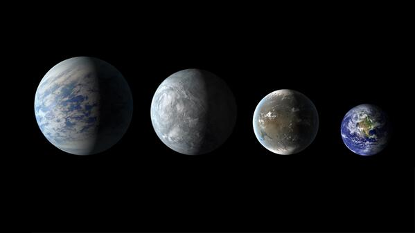 Scientists using @NASAKepler found 715 new planets! Here's Earth with 3 of them. VIDEO: http://t.co/TLo5GDCejO http://t.co/kiY4KITZCX
