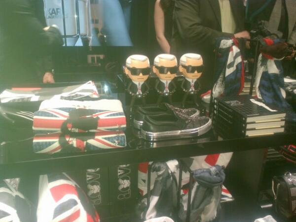 Karl is a brand! Lagerfeld shop opening Regent St London tonight http://t.co/tedRW70xFG