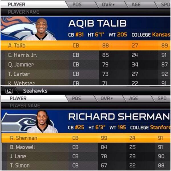"""""""@EAMaddenNFL: Proof is in the ratings, fellas. @RSherman_25 @LG_Blount http://t.co/qjSTQ7Yedc"""" turn my speed up !!!"""