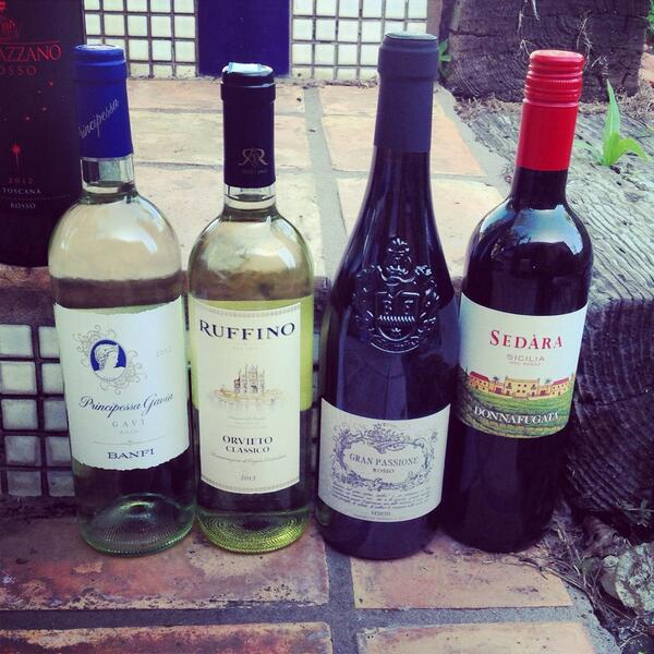 Spend the next hour with four sexy Italians from @WholeFoods  #WFMwine http://t.co/SWwnCyD46w