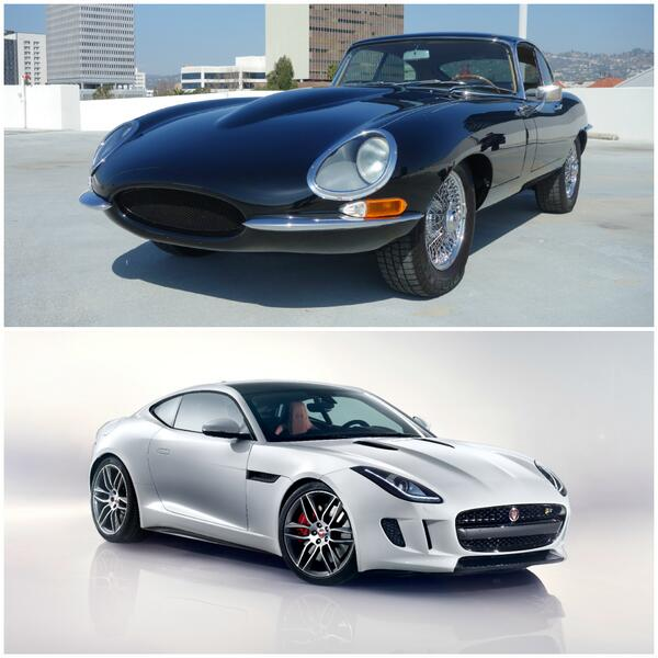 New or Old?  Which #Jaguar would you rather drive, the classic E-Type or the all new F-Type Coupe? @JaguarUSA http://t.co/yN8PIlBZ2p