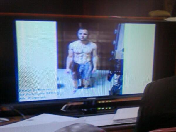 #OscarPistorius Haunting image of the athlete with blood-drenched shorts and prosthetics smeared with blood http://t.co/0uh0UIFdW0