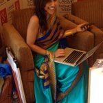 RT @TeamMissMalini: A sari for work - A sari for play @MissMalini in @mandybedi hanging out @GoogleHangouts #lakmefashionweek http://t.co/Y…
