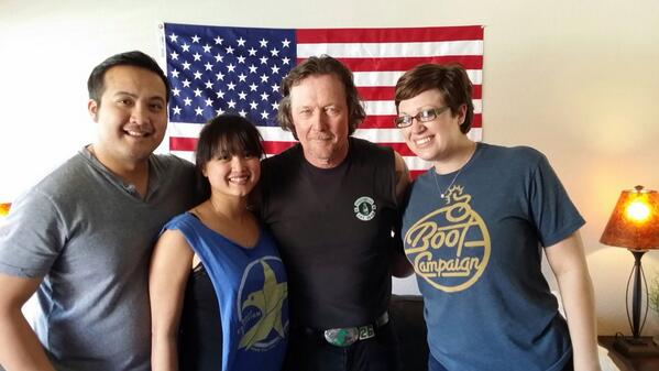 On Tuesday I had the pleasure of meeting @robertpatrickT2 in #ATX! Thank you for getting you @bootcampaign Boots on! http://t.co/qUgjgytMbM