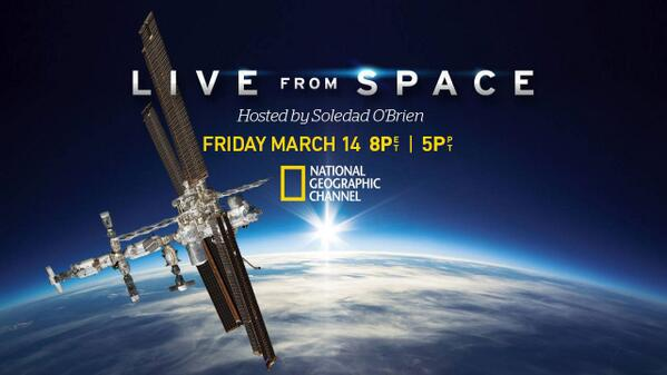 Tonight! #LiveFromSpace on @NatGeoChannel @ 8pm ET. Prepare to escape the grasp of gravity and step into the #ISS! http://t.co/wRBOJz7mND