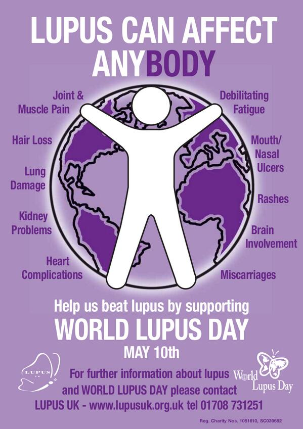 May 10th is #WorldLupusDay. Here is our new poster to raise awareness for the event. http://t.co/FFeBs3Gp1u #lupus http://t.co/hcKqPkZQE2