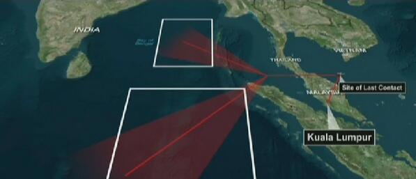 Classified analysis: #Flight370 likely crashed into the Bay of Bengal or the Indian Ocean. http://t.co/NJtgSS6NNY