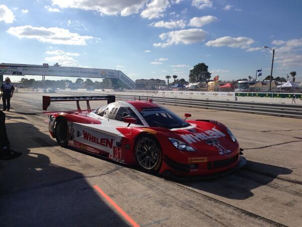 Here's @ericcurran31 ready to qualify the No. 31 @WhelenEng Corvette DP: #Sebring12 http://t.co/BFIUsQ4GLC
