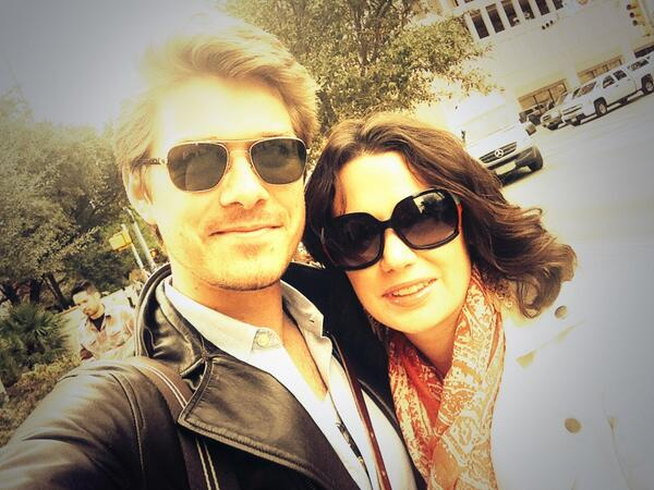 Natalie Hanson (@natonthewall): Me and the birthday boy today. #shades #hesactuallycoolIjusthadLASIK #SXSW http://t.co/KauoWkqwYr