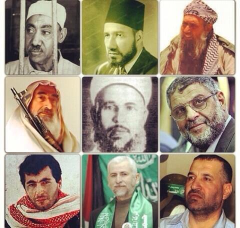 RT @abdalaziz83: قيادات الاخوان من اول #حسن_البنا مؤسس الجماعة مرور سيد قطب وبشيخ يس والرنتيسي .. شهداء الامة #إنصاف_الاخوان http://t.co/BQ6nlurpS2