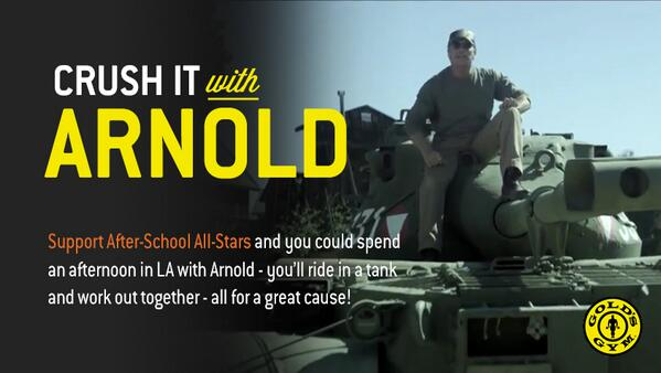 LAST CHANCE to make a donation to the @ASASafterschool, and spend a day with @Schwarzenegger! http://t.co/WnGy0PKYO6 http://t.co/EUOYqx5TUk
