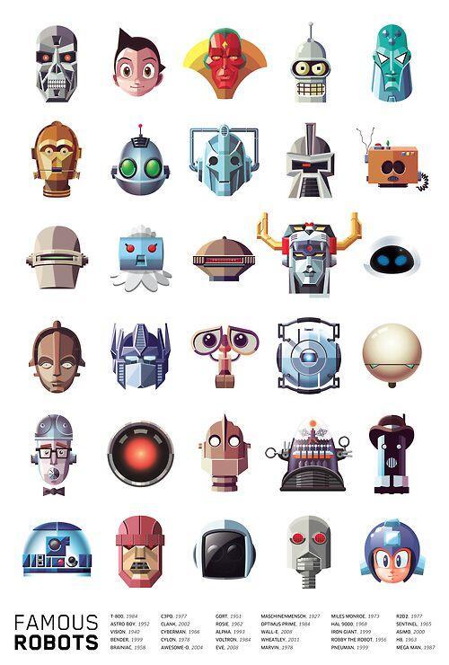 Robots Famosos. ¿A cuántos reconoces? http://t.co/E0oHd09bEO