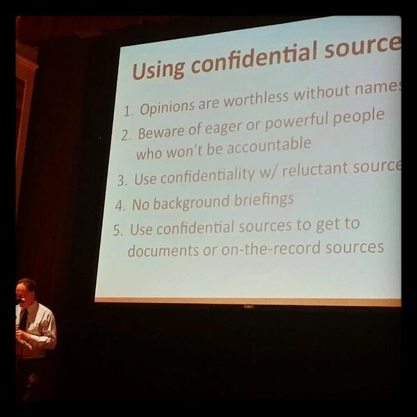 Journalism educator @stevebuttry advice on using confidential sources: http://t.co/WwGi6vgh0G