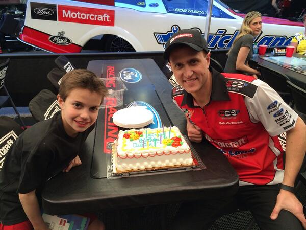 Not a bad day. #1 qualifier and got to celebrate my son's 10th birthday! http://t.co/QMDR9rObjJ