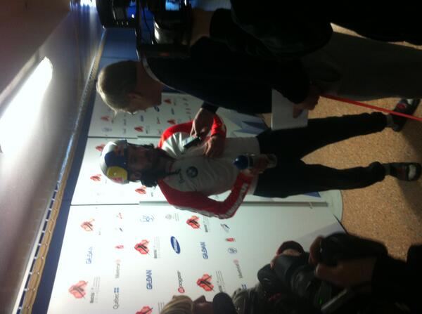 Charles Hamelin @Speedskater01 after his 1500m Gold at @PatinageMTL #Mondial2014 #ISUSkating http://t.co/7BhkLywILg