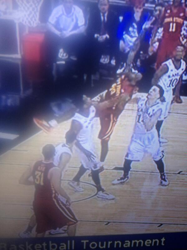 KU figured out how to defend ISU's alley oop plays, just pull the guy down out of the air http://t.co/H99DfzrVz7