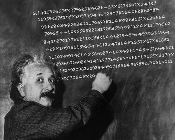 Happy Pi Day and Happy 135th Birthday to Albert Einstein (March 14, 1879)! http://t.co/WGryIyhvHW