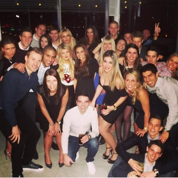 Biwdmd CQAASbFD Liverpool had a team night out with the WAGS for Joe Allens birthday less than 48 hours before Man United trip [Picture]